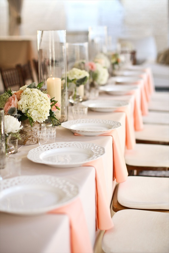 Table setting ideaspeach and cream bride nation table setting ideaspeach and cream junglespirit Images