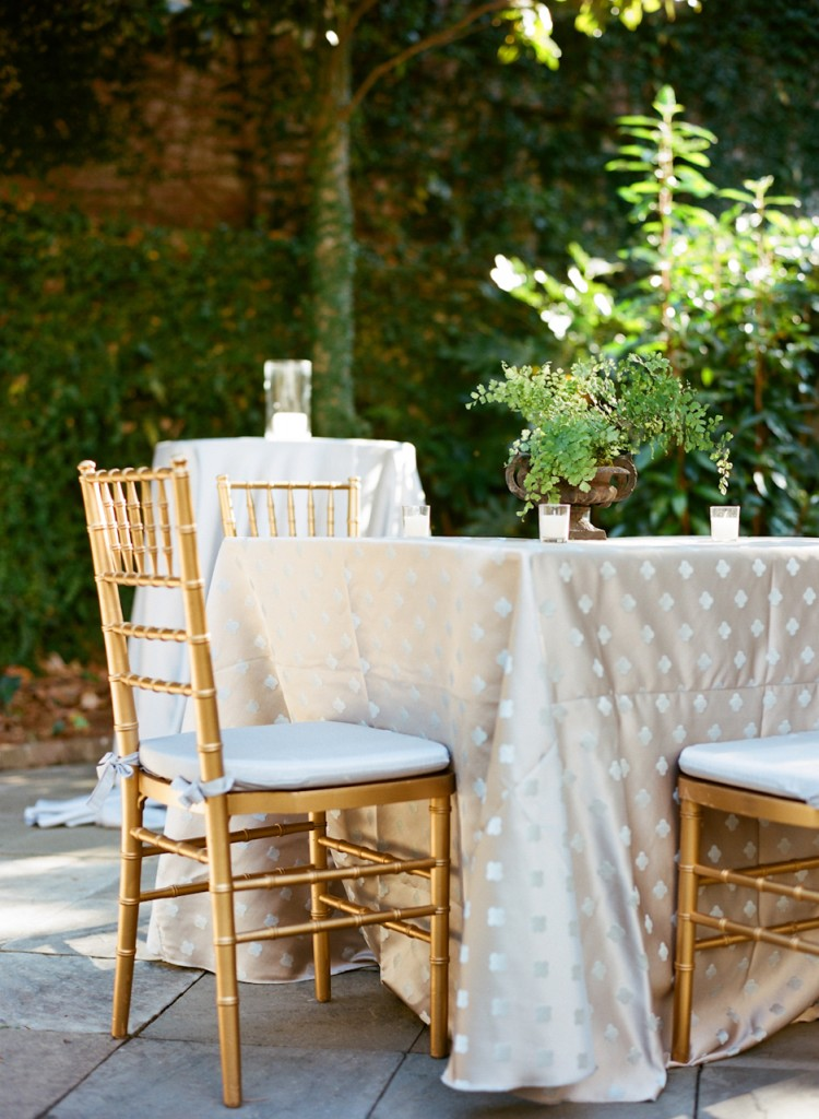 Courtland outdoor table setting