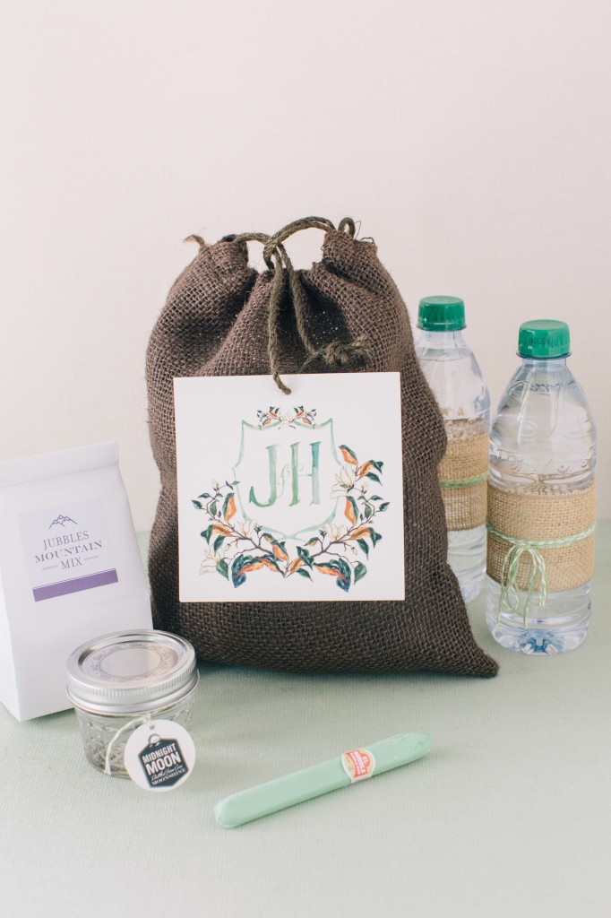 Jessica & Hunter welcome bag
